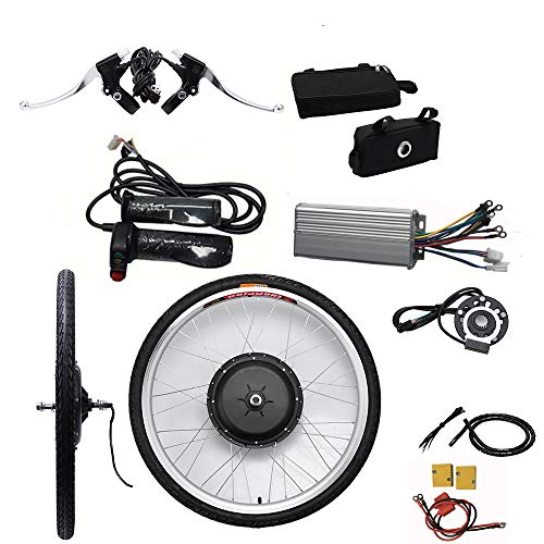 "OBLLER 36V / 48V E-Bike Motor Hub Electric Bicycle Conversion Kits 26"" Front/Rear Motor (48V 1000W Front)"