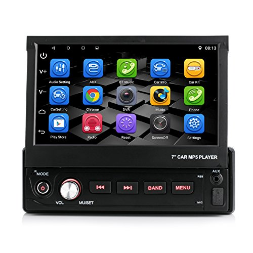 iFreGo Andriod 6.0.1 Single DIN AUTORADIO MIT WiFi GPS Navigation NAVI USB SD Bluetooth Autoradio GPS USB MP3 Moniceiver Naviceiver inkl. Europa Karten +Micro-SD-Kartenslot + Dual USB Anschluss