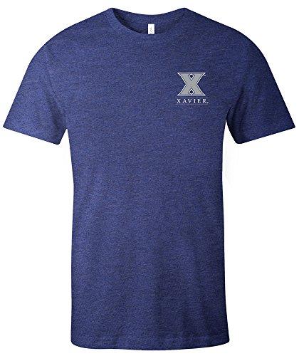 NCAA Xavier Musketierer-T-Shirt für Erwachsene, NCAA, einfaches Maskottchen, kurzärmelig, Trimix, XXL, Marineblau Xavier University Basketball