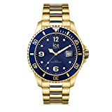 Ice-Watch - Ice Steel Gold Blue - Montre Dorée Mixte avec Bracelet en Metal - 016761...