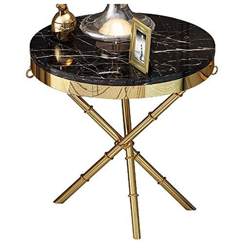 Côté canapé/Petite Table Basse/Côté Post-Moderne, Marbre, Mobilier Moderne de Maison créative, Rond, Noir