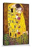 1art1 60711 Gustav Klimt - Der Kuss, 1908 Leinwandbild Auf Keilrahmen 120 x 80 cm