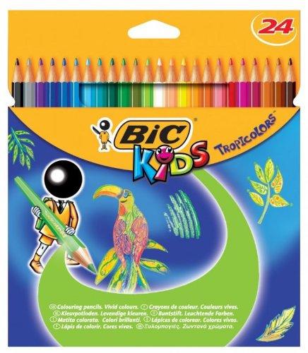 BIC KIDS Buntstifte Tropicolors 2, 24er Kartonetui VE = 1