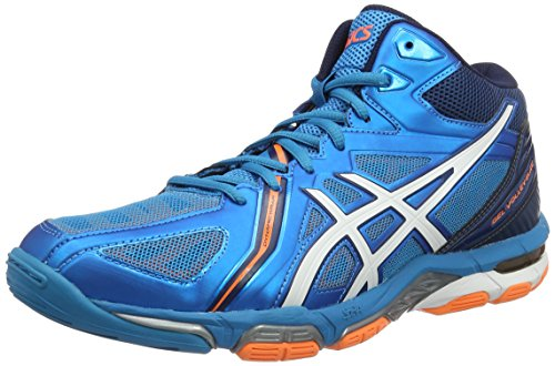 Asics Gel-Volley Elite 3 Mt, Scarpe da Pallavolo Uomo, Blu (Blue Jewel/White/Hot Orange), 44.5 EU