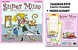 Super Mum Kim NASH Official Family Planner Kalender 2019 +Blank Kühlschrankmagnet
