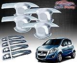 #6: Auto Pearl - Premium Quality Chrome Handle Bowl Insert Trim Cover for - Maruti Suzuki New Ritz