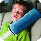 Babies Kids Best Deals - CYBERNOVA Siège enfant Kid véhicules de ceinture harnais d'épaule Pad Support couverture Coussin de tête (bleu)