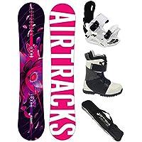 AIRTRACKS Snowboard Set Tabla Astrolion Mujer 145 + Fijaciones Star W + Botas Star W 37 + Sb Bolsa