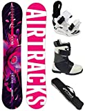 AIRTRACKS Damen Snowboard Set / Astrolion Lady 145 + Snowboard Bindung Star W + Snowboardboots Star W 38 + Sb Bag
