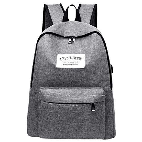 Sonnena Damen Rucksack, Schultasche Schulrucksack Mädchen mit USB Casual Daypack Backpack Elegant für Outdoor Reiserucksack Herren Jungen Teenager Laptop-Rucksäcke