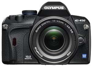 Olympus E-450 SLR-Digitalkamera (10 Megapixel, Art Filter, Live View) Kit inkl. 14-42 mm Objektiv
