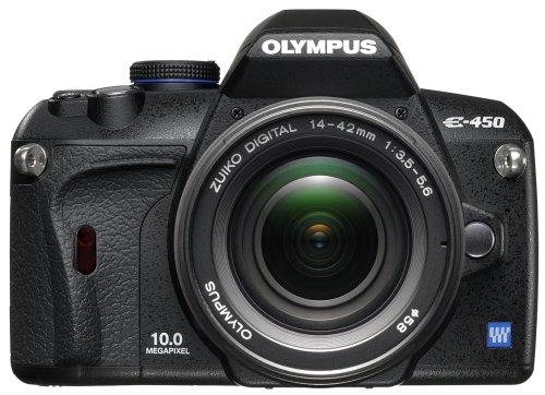 Olympus E-450 Appareil photo numérique Reflex 10 Mpix Kit Objectif 14 42 mm Noir