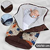 Baby Swaddle Blanket Stroller Wrap - Closed (l/w): ca.120/50 cm, Opened (l/w): ca. 135/110 cm, Choice of Color - Fleece-Winter Footmuff, Sleeping Bags