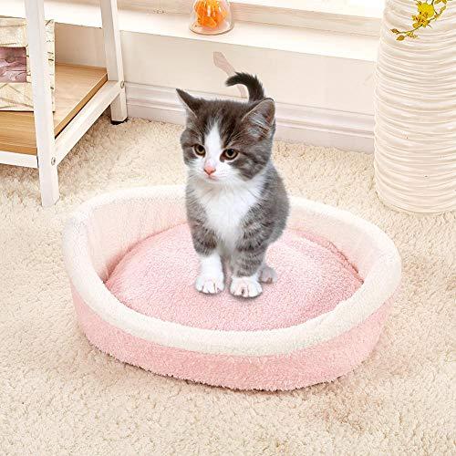 Lacyie Pet Nest Hamburguesa algodón Terciopelo extraíble