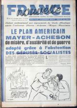 FRANCE NOUVELLE [No 310] du 24/11/1951 -...