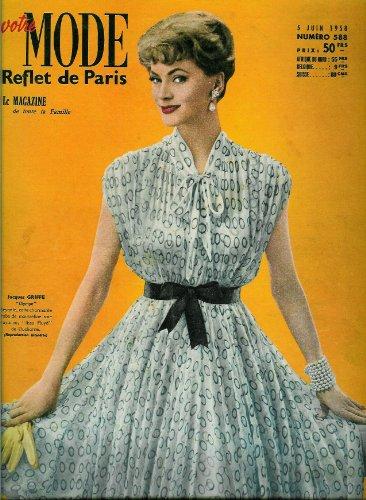 Votre Mode - n°588 - 05/06/1958 - Robe Jacques Griffe (couv.) / Blouson homme (patron)