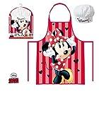 Kinder Disney Minnie Maus LR0210Schürze und Mütze Set von 3bis 8Jahren