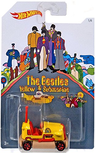 BUMP AROUND 2016 Hot Wheels THE BEATLES 50th Anniversary YELLOW SUBMARINE 1:64 Scale Collectible Die Cast Metal Toy Car Model 1/6 by Hot Wheels