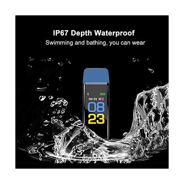 MENGZHEN 1 UNID Y3 Monitor de Actividad del Ritmo cardíaco Pantalla táctil Usable Podómetro Bluetooth Pulsera Inteligente con Monitor de sueño 3