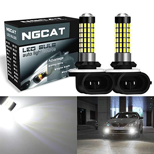 NATGIC 881 886 889 LED Ampoules 3014SMD 78-EX Jeu de puces pour projecteur de lumière de brouillard, blanc xénon 6500K, 12-24V 4W (pack de 2)