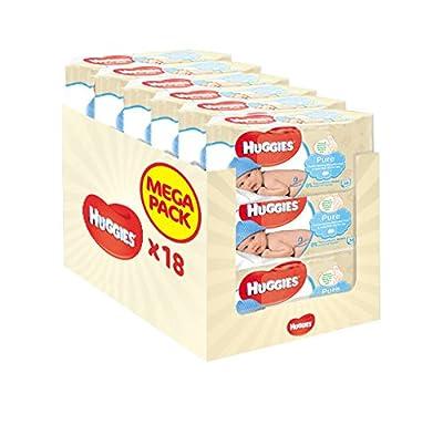 Huggies Pure Baby Wipes - 18 Packs (1008 Wipes Total)