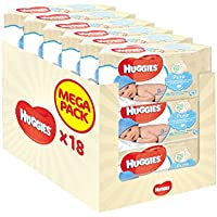 18-Pack Huggies Pure Baby Wipes (1008 Wipes)