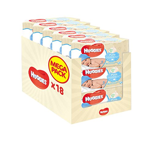 Product Image of Huggies Pure Baby Wipes - 18 Packs (1008 Wipes Total)