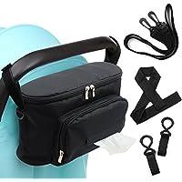 Bolsa de almacenamiento para cochecito de bebé, de Woson. Organizador para carrito de 32 x 12cm. Incluye correa para hombro, 2 ganchos y 1 correa de muñeca