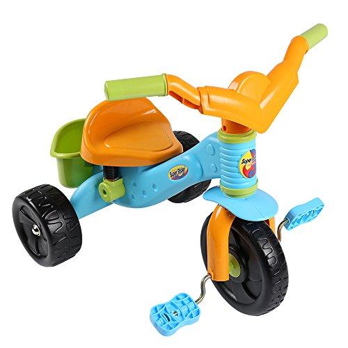 Virhuck Tricicli Bicicletta Trike con Ruote in Plastica ABS per Bambini, da 1 a 4 anni, Triciclo Evolutivo, Triciclo Bebe, Peso Massimo 30 kg