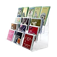 Clear Acrylic 4 Tier Greeting Card Stand for Retail Display Counters (DS42/600)