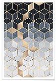 """JUNIQE® Poster 60x90cm Abstrakt & Geometrisch - Design """"Soft Blue Gradient Cubes"""" (Format: Hoch) - Bilder, Kunstdrucke & Prints von unabhängigen Künstlern - Kunst für's Wohnzimmer & Esszimmer - entworfen von Elisabeth Fredriksson"""