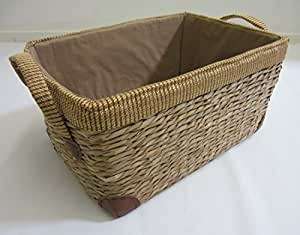 Rush Storage Baskets Lined With Handles. Bathroom Laundry Toys. - EXTRA LARGE
