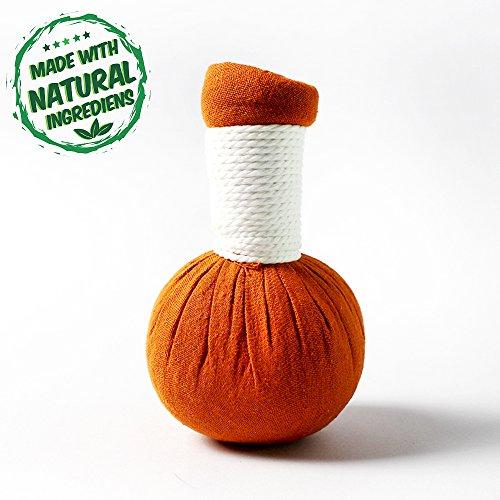20 x Kräuterstempel Orange Thai Kräuter 200g (Gramm) - MyThaiMassage - für traditionelle Massagen & Wellness - 100% natürliche Zutaten