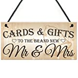 Red Ocean Cards & Gifts To The Brand New Mr & Mrs Wedding Post Box Gift Table Decoration Plaque Sign