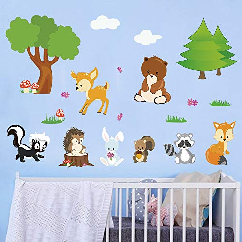 Decalmile Pegatinas Pared Animales Bosque Vinilos