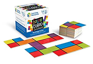 Learning Resources- Juego de Estrategia de Cuadrados de Colores (LER9283)