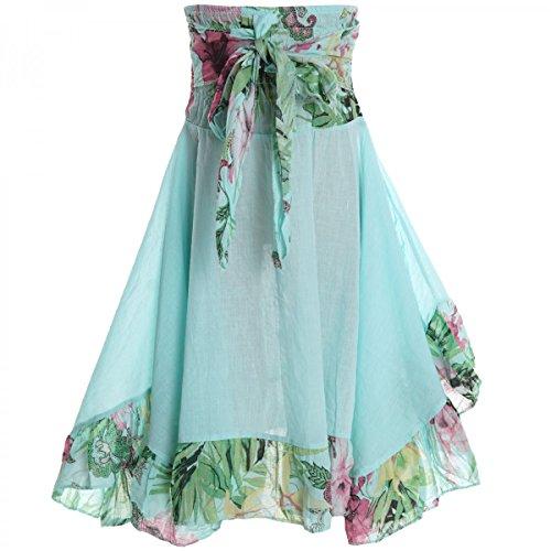 BEZLIT Mädchen Kinder Spitze Kleid Peticoat Fest Sommer-Kleid Kostüm 20424 Grün Größe 152 (Strand Mädchen Kostüm)