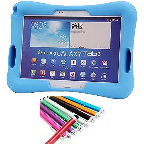 Azul DropProof Funda Carcasa para Samsung Galaxy Tab 3 P5200 P5210 10.1