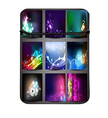 Snoogg Creative Abstrakt Hintergrund-Set 43,2cm einfachen Zugang Gepolstertes Laptop Schutzhülle Flip Sleeve Tasche