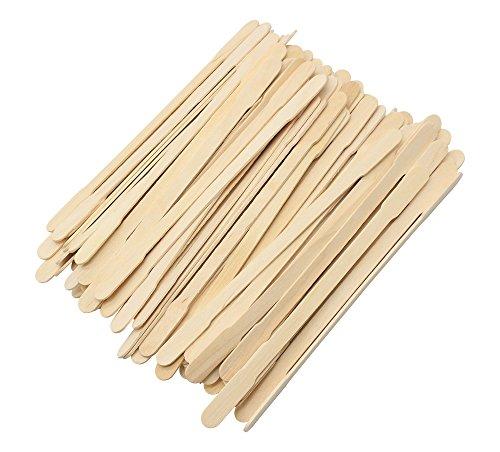 (Einweg-Kajak-Sticks aus Holz, doppelt, für Partys, Zuhause, Reisen, Abendessen, Cocktailrührstäbchen, Wischstäbchen, 100 Stück, 16 cm Länge)