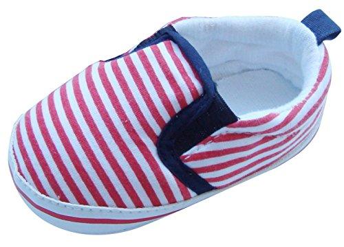 Listras Mabini Menino Com Vermelho Rastejando Puschen E Sapatos Branco zqFBwdqxW