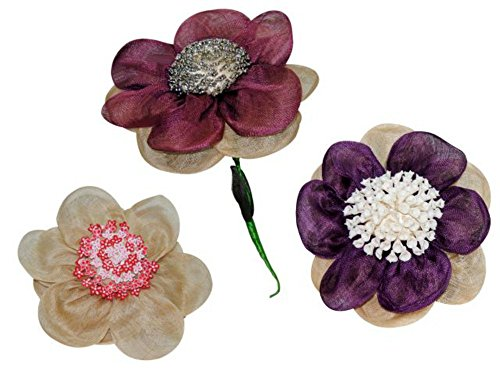 "Ramo Decorativo para Alfileres ""Flor"" a Elegir. Complementos. Detalles de Bodas y Eventos. (Lila)"