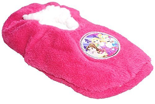 Mädchen Disney Prinzessin Rapunzel flauschig innen Pantoffeln UK Schuhe Größen von 7.5 to 13 - Cerise Rosa, EU 25/26 (UK 7.5 - (Schuhe Prinzessin Disney)