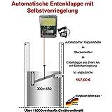 Automatische Entenklappe + Steckernetzteil + Klappe mit Selbstverriegelung - Direkt vom Hersteller !