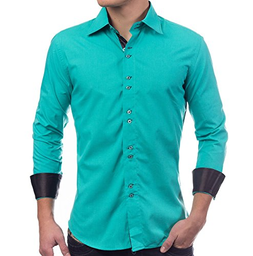 bb01b42840eeb1 ArizonaShopping - Hemden Herren Hemd Regular Fit · Langarm Hemd Unifarben ·  Sportliches Design · Shirt