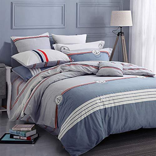 BAIF Bettwäsche, Bettwäscheset NeutralCotton Neutral Doppel 4er-Set Bettbezug British Style 180cm Bettwäsche 3 Styles (Farbe: C) (British-bettwäsche-set)