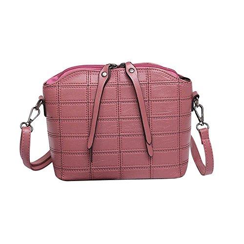 Kword Donne Elegante Messenger Borse Slim Crossbody Spalla Borse Vintage  Borsa Piccola Rosa e038239fc00