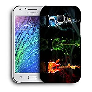 Snoogg Colorful Guitar Designer Protective Back Case Cover For Samsung Galaxy J1
