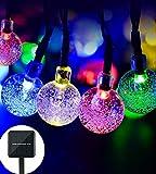 lederTEK Lumière Solaire (Lot de 2) 30 LED Guirlande Lumineuse Boules Multicolore Pour La Décoration Arbre Noël