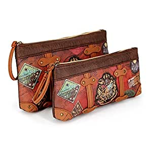 Karactermania Harry Potter Railway-Ensemble de Deux Trousse de toilette, 24 cm, Marron